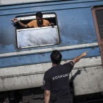 Crossing the Greek - Macedonian (Fyrom) border